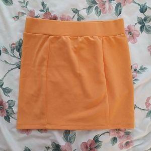 [3/$30] H&M Orange Bodycon Stretchy Skirt